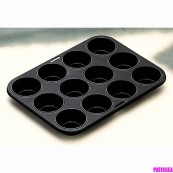 moule à muffin anti adhésif 12 cavités