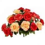bouquet artificiel buisson rose bs4218