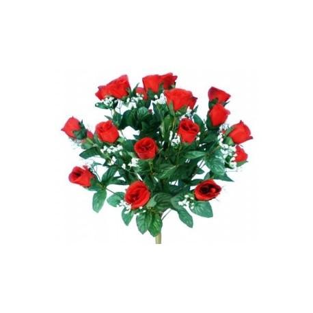 bouquet artificiel rose bouton li4024