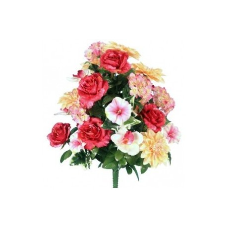 bouquet artificiel orchidée rose bs909ass
