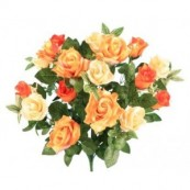 bouquet artificiel buisson rose wy4224ass