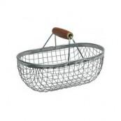 panier métallique de pêche ou de jardin