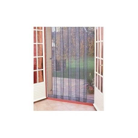 rideau de porti re moustiquaire arles 6 bandes 160 220 cm cookina. Black Bedroom Furniture Sets. Home Design Ideas