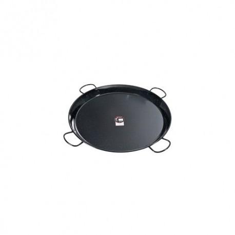 plat à paella acier émaillé 80 cm