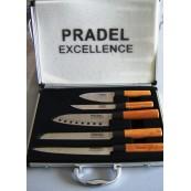valise de 5 couteaux Pradel excellence