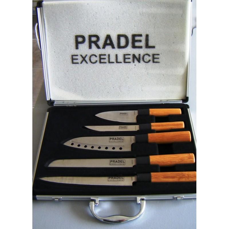 Valise de 5 couteaux pradel excellence cookina - Couteau de cuisine pradel ...
