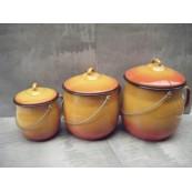 pot émaillé orange de 2 litres