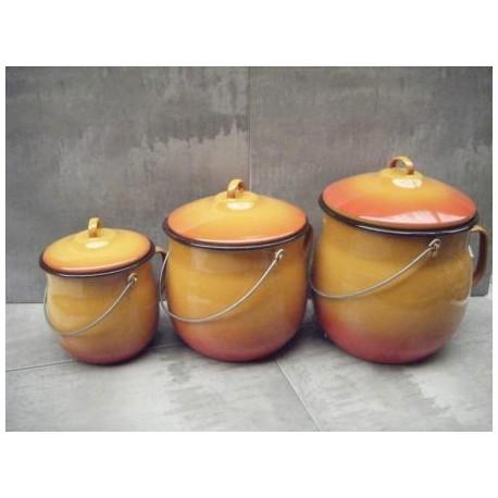 pot émaillé orange de 6 litres