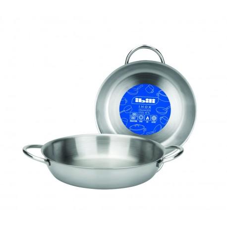 Plat inox 18 cm cookina for Plat cuisson inox