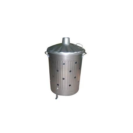 incinérateur grille herbe 100 litres en acier galvanisé