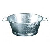 bassine galvanisé 34 cm 9 litres