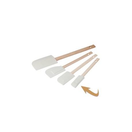 spatule marysette caoutchouc manche bois