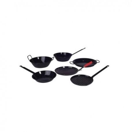grill viande acier émaillé rond