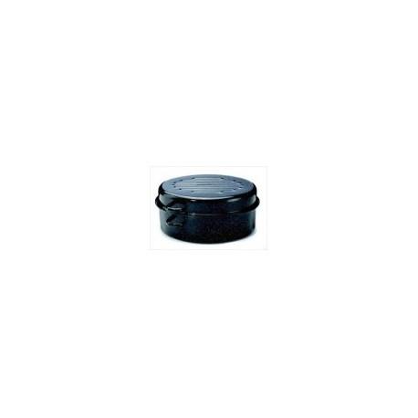 daubière en émail noire 42cm