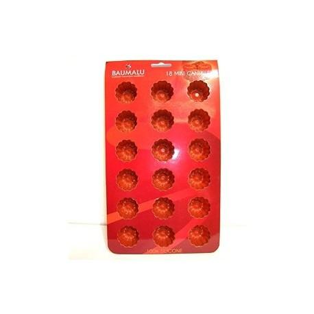 moule mini cannelé en silicone par 15