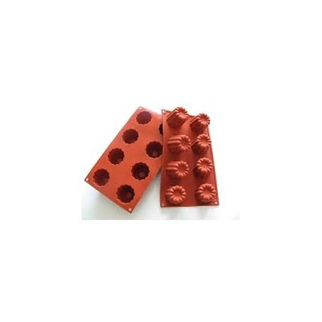 moule à cannelé en silicone par 8