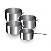 serie de 4 casseroles beka evolution poignée démontable