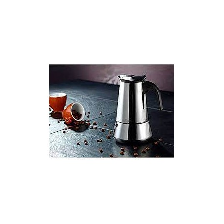 Cafetière italienne 6 tasses inox