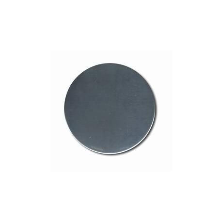 cache plaque inox diam.16cm